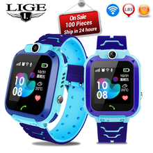 LIGE 2019New Smart watch LBS Kid SmartWatches Baby Watch for Children SOS Call Location Finder Locator Tracker Anti Lost Monitor