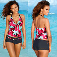 Women Push Up Padded Bra Bikini Set Swimsuit Vest and Bottom Shorts Beach Wear Ladies Summer Bathing Swimwear