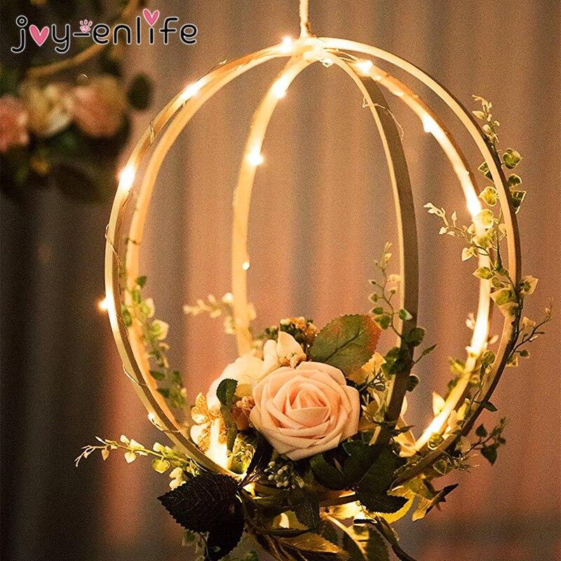 10-29cm Catcher Ring Embroidery Bamboo Circle Bride Portable Garland DIY Art Craft Cross Stitch Wedding Wreath Circle Home Decor