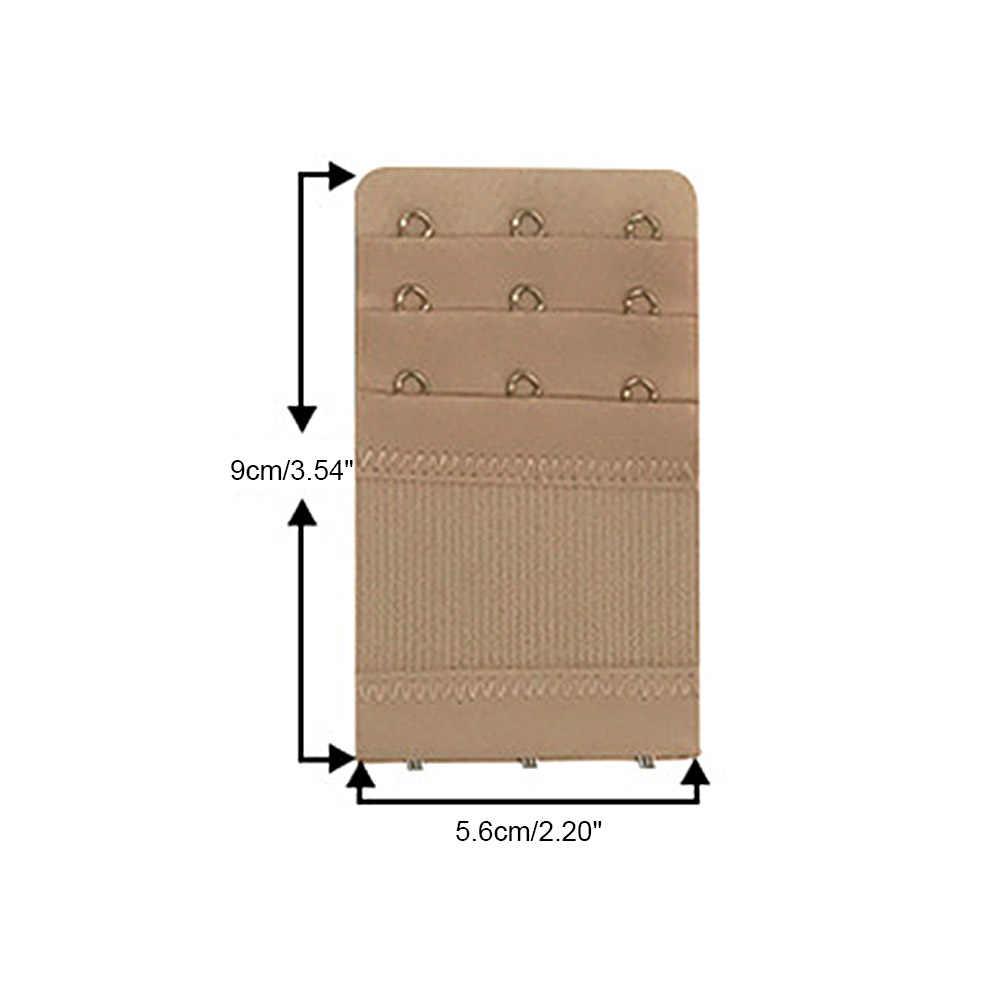 2/5 piezas 3 ganchos 3 filas extensor de sujetador elástico para mujer Clip trasero hebilla de cierre de correa hebilla de cinturón ajustable ropa interior hebilla extensión