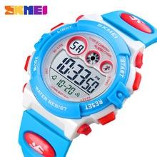SKMEI Children Electronic Digital Watch Stopwatch Chronograph Sport Watches 5Bar Waterproof Kids Wristwatch For Boys Girls Clock