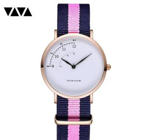 Image 5 - Fashion Design Nylon Women Watch Ladies Quartz Wristwatch Leather Strap ALL match Dress Clock Female montre femme 2019