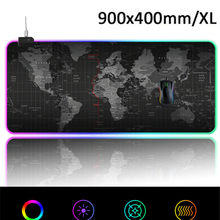 Tapis de souris Gaming tapis de souris ordinateur grand tapis de souris Gamer RGB carte du monde grand tapis de souris PC bureau tapis RGB(China)