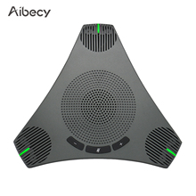 Aibecy 360° USB Speakerphone Conference Microphone Omnidirectional Computer Mic Voice Pickup with Mute Key for Video Conference
