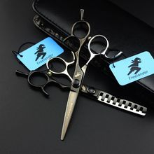цены Japan Steel 5.5 inch Professional Hairdressing Scissors Barber Hair Cutting  Scissor Thinning Shears Tijeras Peluquero