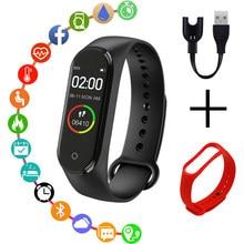 De los hombres de la moda de las mujeres reloj deportivo deportes pulseras Bluetooth llamada de recordatorio de podómetro detector pulsera inteligente