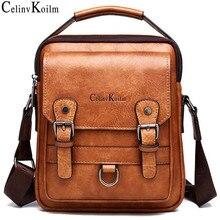 Celinv Koilm Brand Men Handbags New Mans Crossbody Shoulder Bag Large Capacity Leather Messenger Bag For Man Travel Cool New