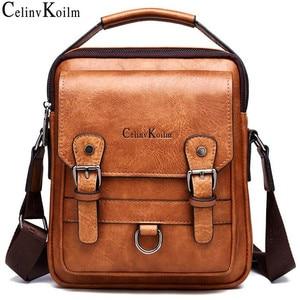 Image 1 - Celinv Koilm Брендовые мужские сумки новые мужские сумки через плечо Большая вместительная кожаная сумка мессенджер для мужчин крутая Новинка для путешествий