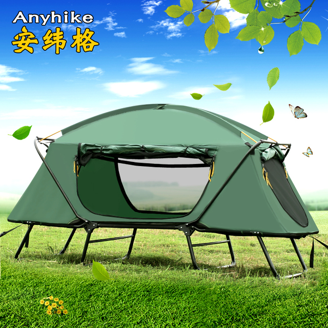 Enkele persoon outdoor thermische isolatie, off grond tent, outdoor enkele persoon bed regenbui, vissen tent