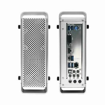 METALFISH G5 Mini Aluminum HTPC Chassis Mini ITX Slim Gaming Computer Case With DC-ATX Power Supply Free shipping For ITX MINI