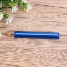 Aluminum Alloy Side Sealing Pen Manual Leather DIY Edge Sealing Pen Red