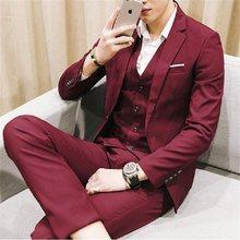 Gwenhwyfar – Tuxedos de mariage pour hommes, tenue de marié, couleur bordeaux, sur mesure, formel, nouvelle collection, veste + pantalon + gilet