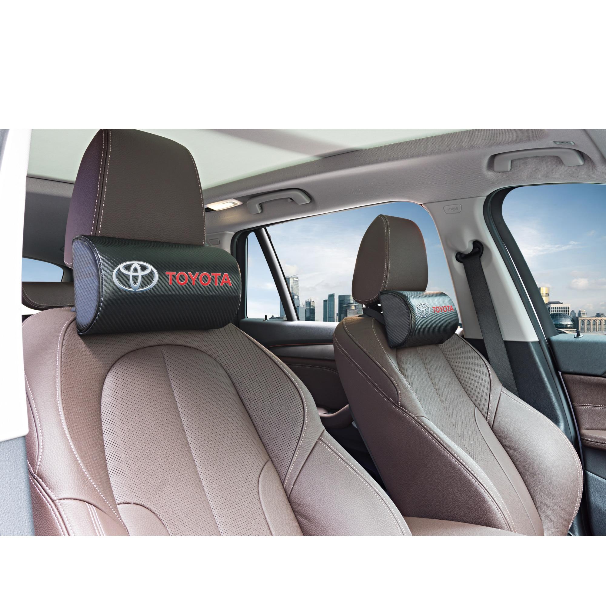 Car Neck Pillows For Toyota Camry Chr Corolla Rav4 Yaris Prius  Both Side Pu Leather Single Headrest