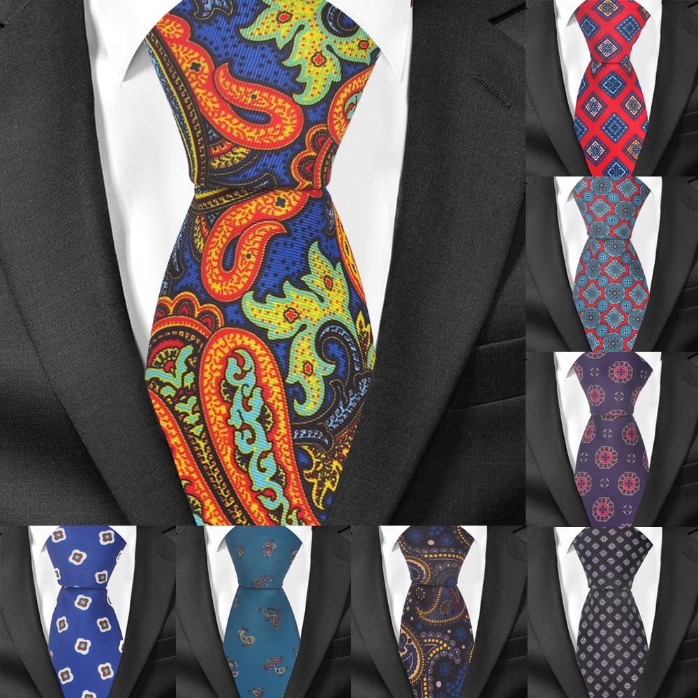 New Floral Print Tie For Men Women Classic Fashion Neck Tie For Wedding Casual Mens Neckties Suits 7 Cm Width Neck Ties Cravat