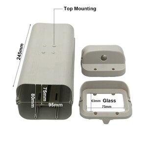 Image 4 - كاميرا دائرة تليفزيونية مغلقة داخلية غلاف الأمن المراقبة الضميمة الإسكان الألومنيوم ABS رمادي حماية الغرفة