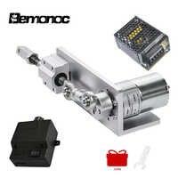 Motor de engranaje de cc 12V 24 V + fuente de alimentación + controlador de velocidad Actuador Lineal bemoc diseño DIY