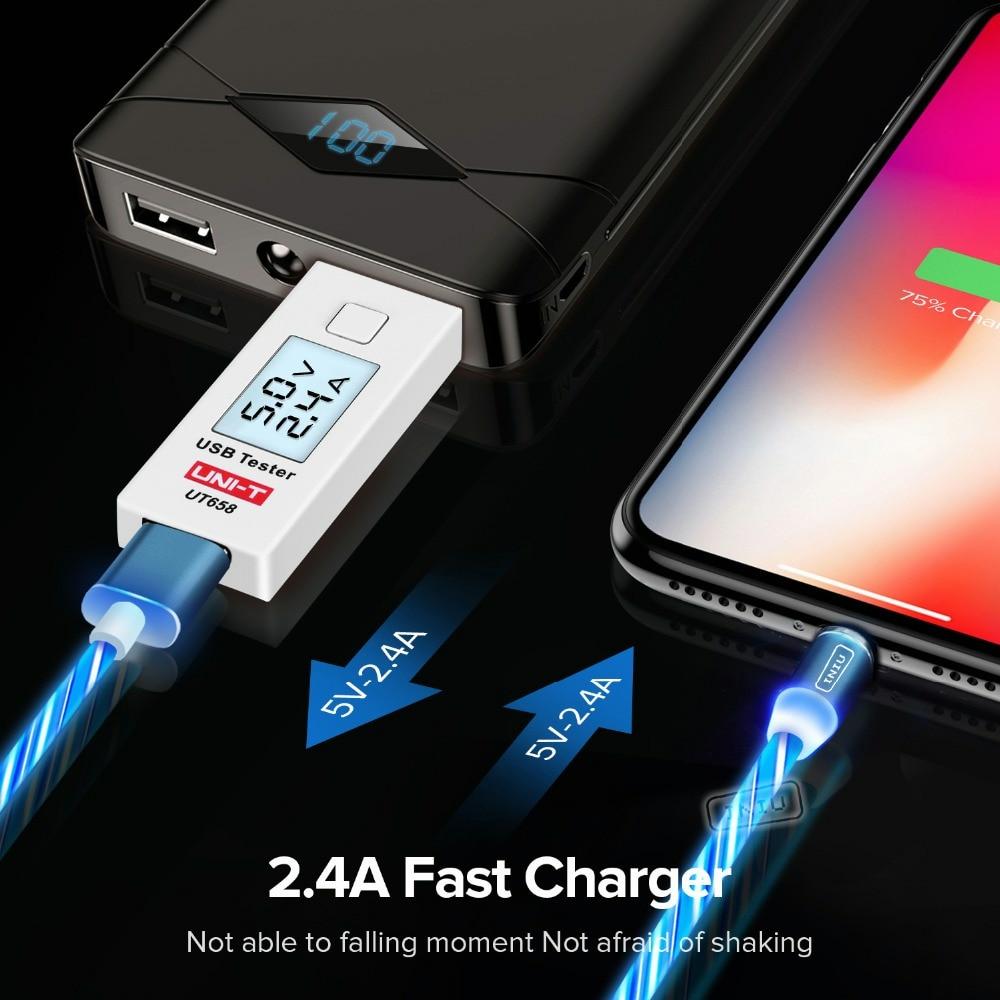 INIU световой поток магнитного освещения USB кабель для iPhone XR X 7 8 микро Тип C зарядное устройство Быстрая зарядка магнит зарядка USB-C тип-c