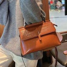 Luxury Designer Crossbody Bag 2021 New Shoulder Bags for Women Genuine Leather Handbag Crocodile Grain Lady Tote High Quality