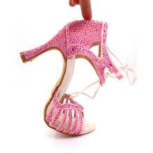Samisoler dress shoes woman ballroom dance latin Rhinestone Ballroom Shoes latce