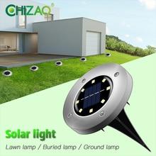 CHIZAO lampa trawnikowa ogrodowa światła dekoracyjne słoneczne lampy ogrodowe IP65 wodoodporna lampka kontrolna bezpieczeństwa łatwa instalacja