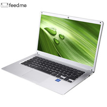 Feed me 14.1 Inch IPS Laptop Windows 10 Intel E8000 Quad Core 4GB RAM 64GB ROM Notebook with Full Layout Keyboard
