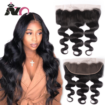 """NY Hair Body Wave Frontal Ear to Ear lace Frontal Closure 13*4 Body Wave Human Hair Lace Frontal 8""""-22"""" Natural Color Closure"""