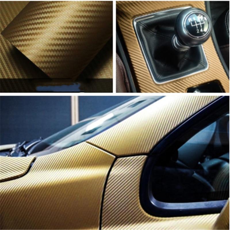 30cm x 127cm vinilo 3D de fibra de carbono rollo de lámina de coche pegatinas y calcomanías de coche motocicleta accesorios de estilo para automóviles