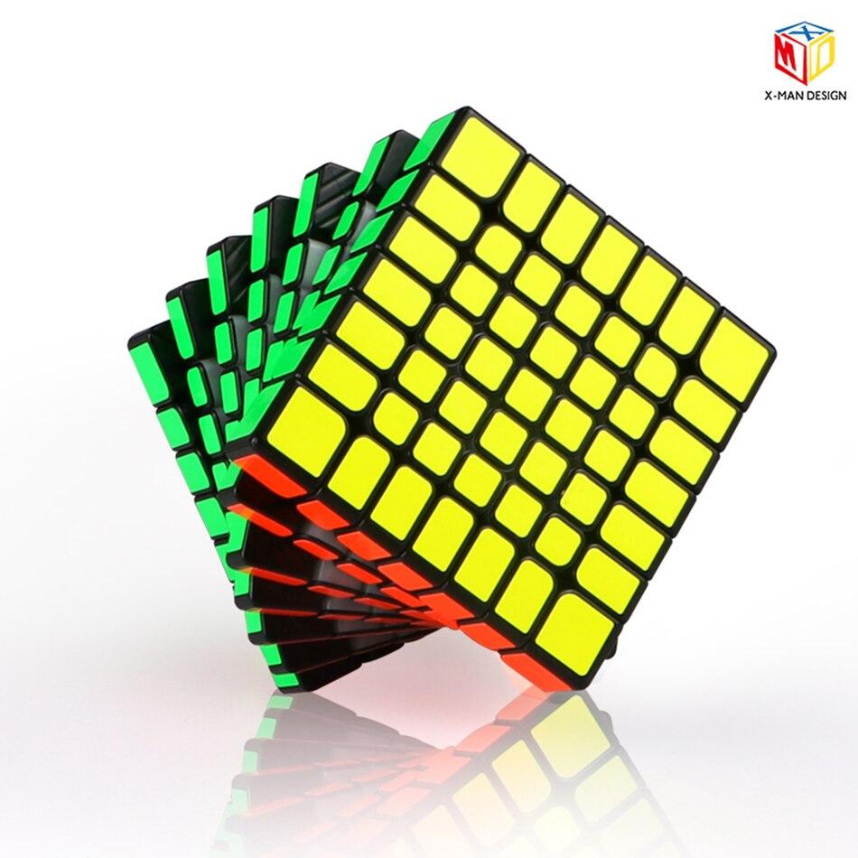 Qiyi x-man conception étincelle 7X7 magique magnétique Cube de vitesse professionnel sans colle étincelle M 7x7x7 aimants Cube Puzzle Cubo Magico
