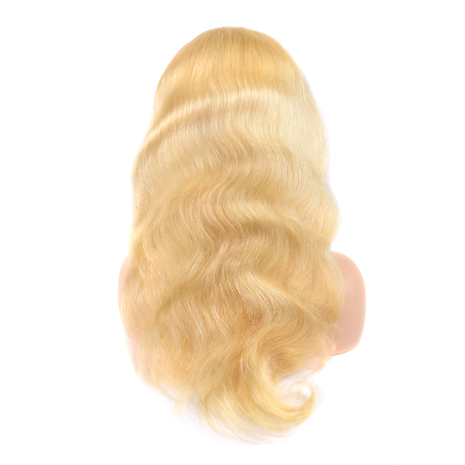 613 Honey Blonde Color Remy Brazilian Body Wave Lace Front Human Hair Wig 8 - 26 Inch 1B 613 Ombre Frontal Wigs For Black Women