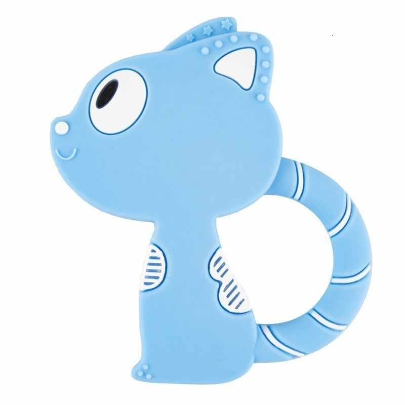 Baby Teether silikonowy nosidełko na dziecko klip mysz Cartoon Chew wisiorek pielęgniarstwo smoczek z klipsem naszyjnik noworodka zabawka