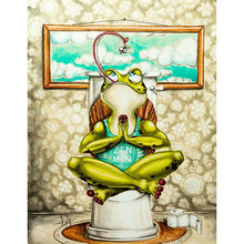 Diy картина маслом по номерам Туалет лягушка Раскраска на стену