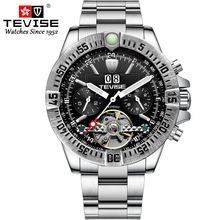 2019 Top Brand TEVISE Luxury Watch Men Automatic Mechanical Stainless Watches Tourbillon Waterproof Wristwatch Relogio Masculino