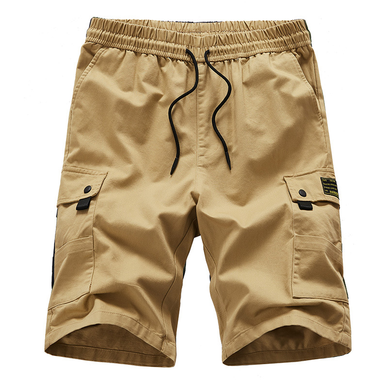 New Trend Men Cargo Shorts Casual Loose Solid Summer Male Military Tactical Short Pants Multi-pocket Workout Shorts Knee Length