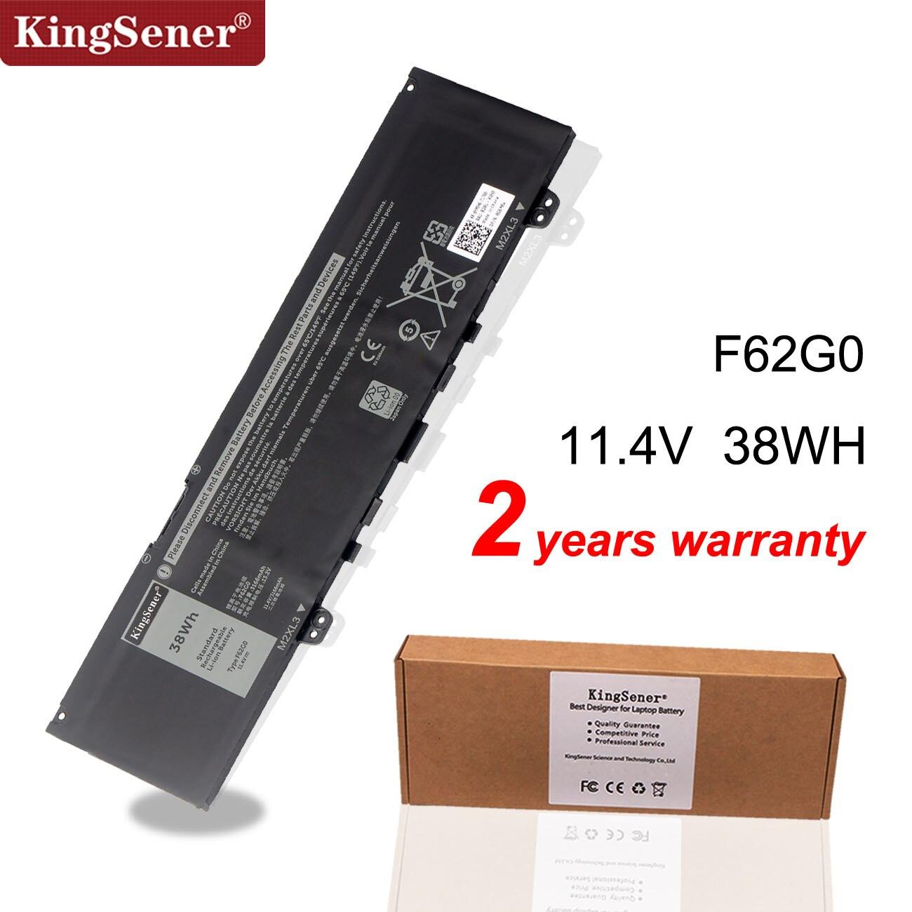Kingsener 11.4V 38WH F62G0 Laptop Battery For DELL Inspiron 13 5370 7370 7373 7380 7386 Vostro 5370 RPJC3 39DY5