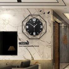 Northern European-Style Fashion Clock Wall Clock Living Room Creative Clock Household Metallic Decoration Quartz