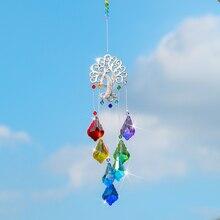 Rainbow-Maker Maple-Leaf-Prism Suncatcher Chakra Crystals-Ornament Hanging Window Garden