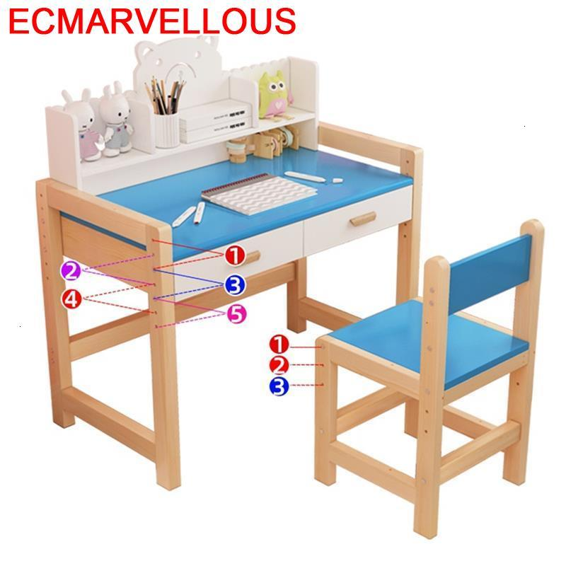 Estudo Enfant Avec Chaise Cocuk Masasi De Estudio Children And Chair Play Adjustable For Mesa Infantil Kinder Kids Study Table