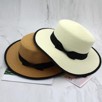 Nowe modne letnie kapelusze słomkowe damskie kapelusze jazzowy kapelusz Panama kapelusze plażowe Lady płasko zakończony kapelusze przeciwsłoneczne chapeau tanie i dobre opinie EODJCUE Unisex Słomy Dla dorosłych Z-887 Na co dzień Stałe Sun Hat Men Jazz hat men women Fedoras men women