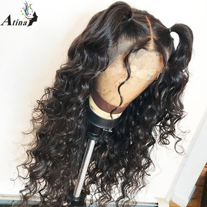 Image 4 - 13x6 תחרה מול שיער טבעי פאות Loose עמוק גל Glueless מלא תחרה פאה 360 תחרה פרונטאלית פאה מראש קטף עם תינוק שיער 150% רמי