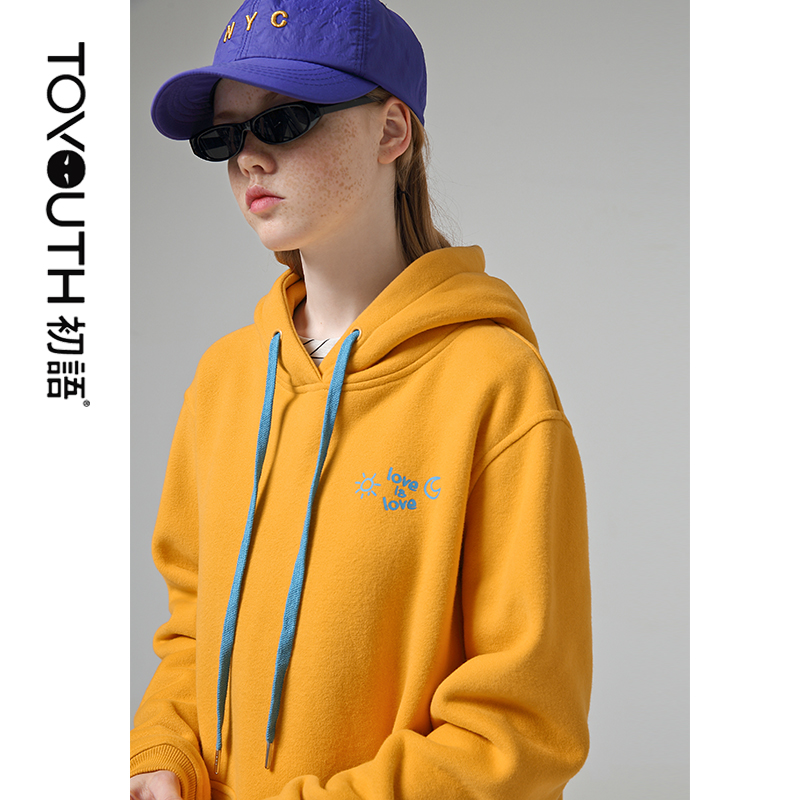 Toyouth Fashion Letter Printed Women Hoodies And Sweatshirts Loose Long Sleeve Tracksuits For Female Tops