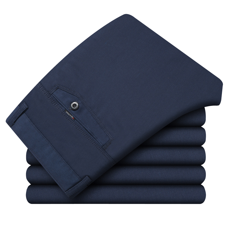Новинка 2020, повседневные мужские штаны, 100% хлопок, Фланелевые штаны, деловые удобные тонкие длинные брюки, уличная одежда для мужчин, темно синий, черный|Повседневные брюки|   | АлиЭкспресс