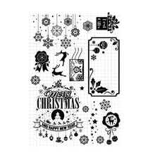 Merry Christmas Snowflake Clear Stamps Transparent Silicone Seal for DIY Scrapbooking Card Making Photo Album Decoration Crafts