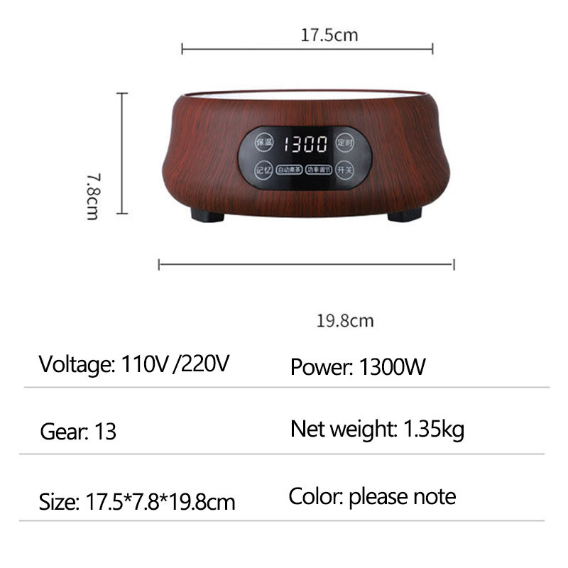 110V/220V Electric Heater Stove Hot Cooker Plate Milk Water Coffee Tea Heating Furnace Multifunctional Kitchen Appliance 1300W - 6