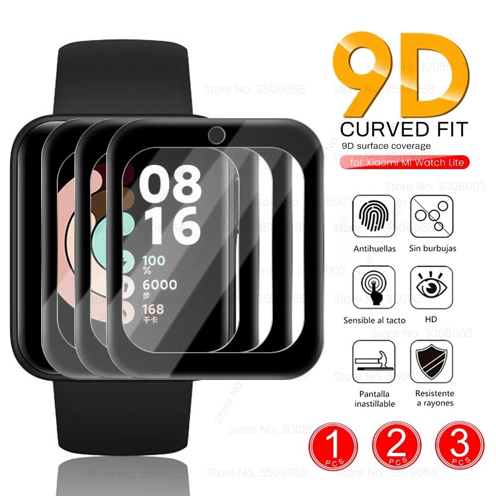 Защитное стекло из 9D волокна для смарт часов Xiaomi Mi Watch Lite, 1/2/3 шт.|Смарт-аксессуары|   | АлиЭкспресс