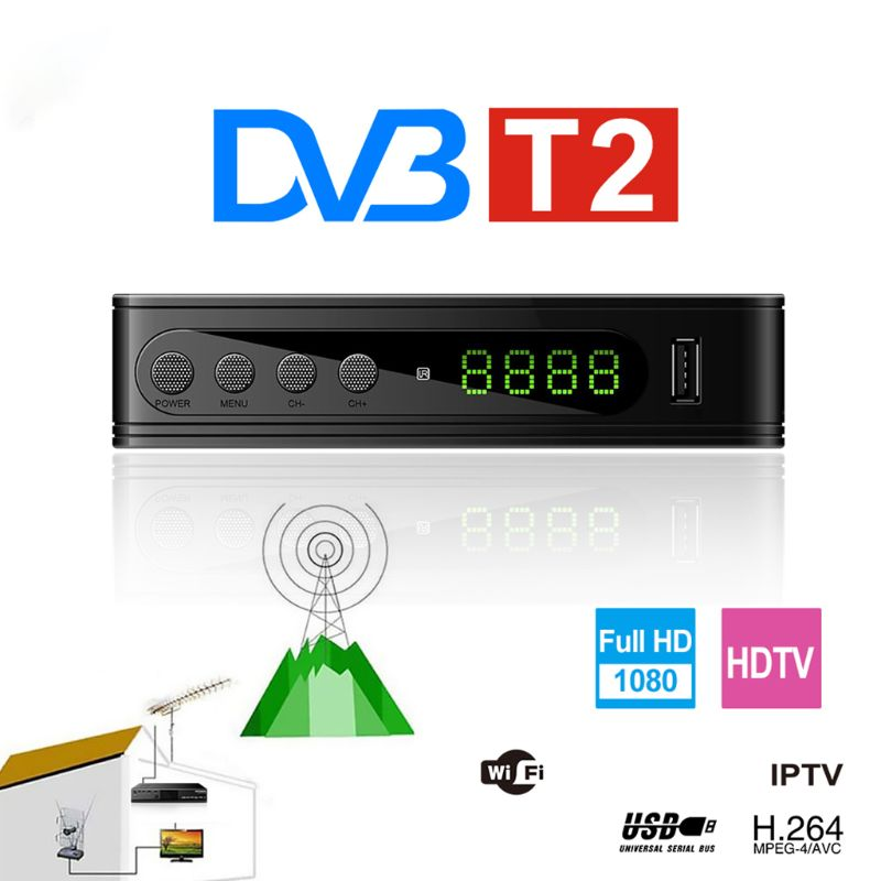 DVB-<font><b>T2</b></font> 115 Mini Volle HD Digital TV Set Top <font><b>Box</b></font> EU Stecker Satelliten-tv <font><b>Box</b></font> TV Empfänger image