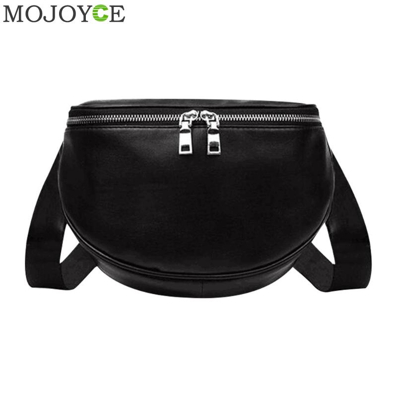 Girls Black Fashion Solid Color Sports Shoulder Messenger Handbags Casual Women Leather Crossbody Chest Bags Bolso Mujer