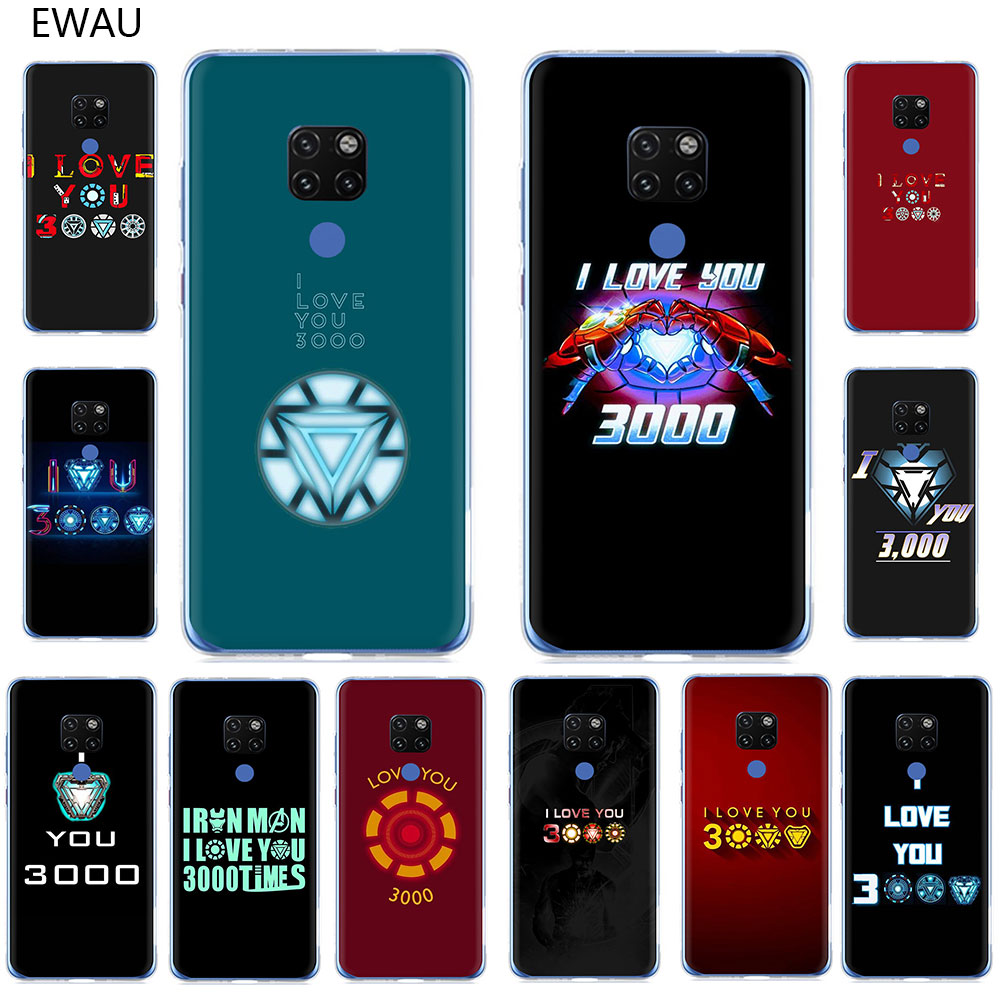 EWAU Marvel Iron Man I Love You <font><b>3000</b></font> Hard Phone Case for Huawei Mate 10 20 30 Pro Nova 2i 3i <font><b>3</b></font> 5i Lite Y5 6 <font><b>7</b></font> 9 Prime 2018 2019 image