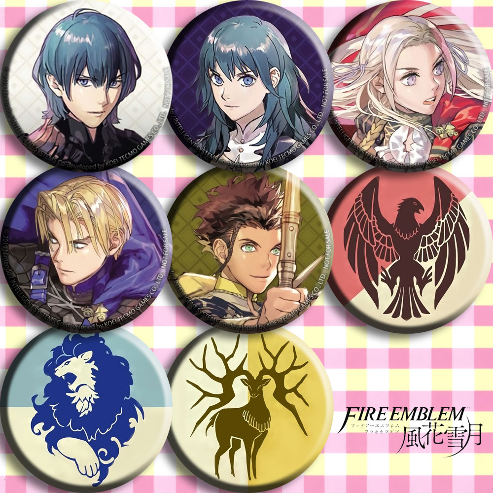 58mm The Games card of amiibo Compatible Fire Emblem: ThreeHouses Zelda Badges Brooch image