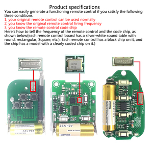 Image 2 - Mini duplicateur de télécommande automatique sans fil pour la fréquence 433.92 MHz copie télécommande A Style B pour porte de garage de voiture