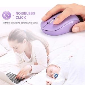 Image 3 - SeenDa Mini ratón inalámbrico silencioso haga clic en 2,4G inalámbrico ratón ergonómico Mouse silencioso para ordenador portátil óptico Mause USB